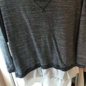 AEO pullover/sweater with shear underlay